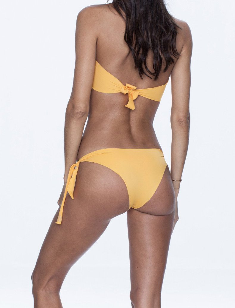 NALLA swimwear, yellow bikini, versatile, comfort, summer look.
