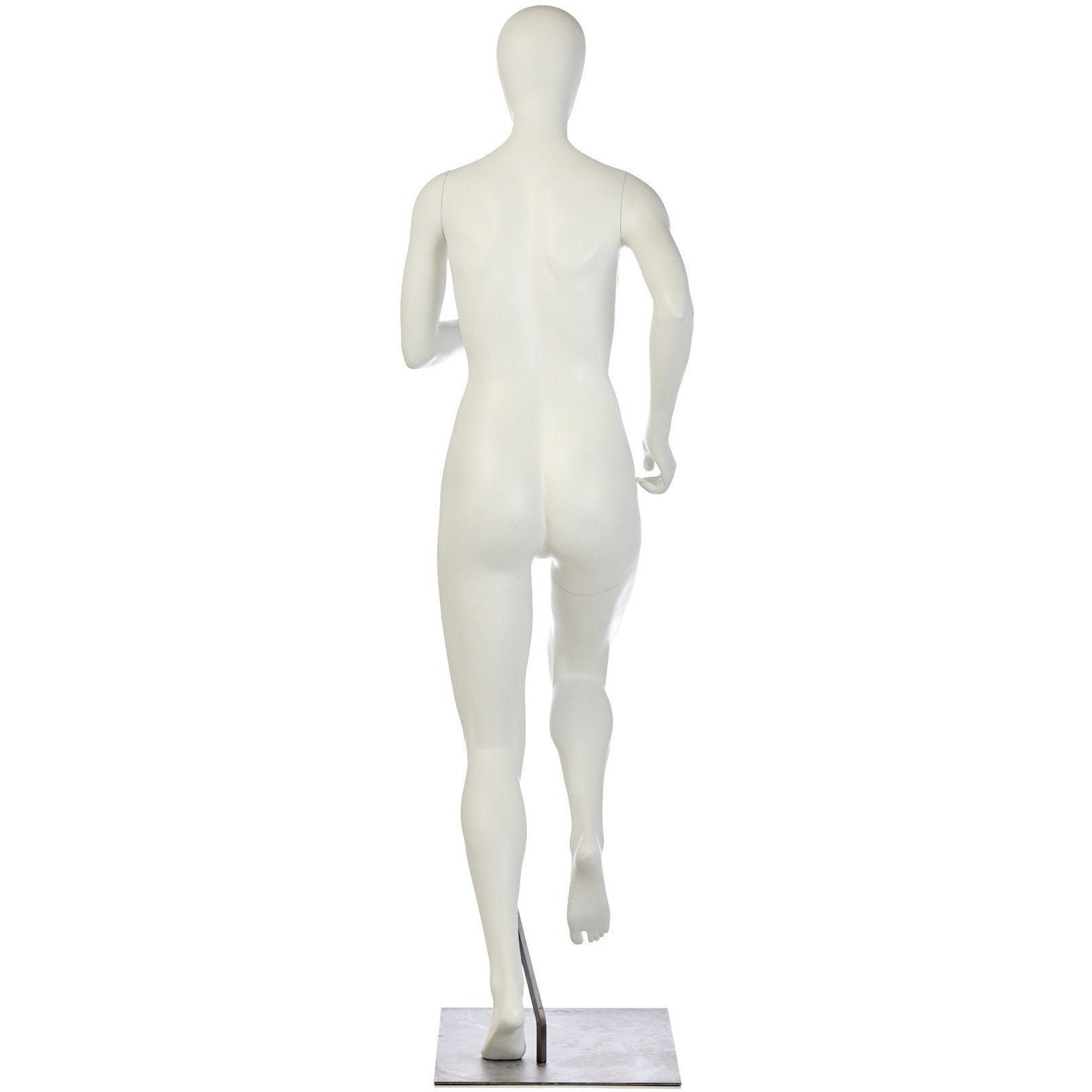 Athletic Female Mid-Stride Runner Mannequin by Fusion Specialties Back