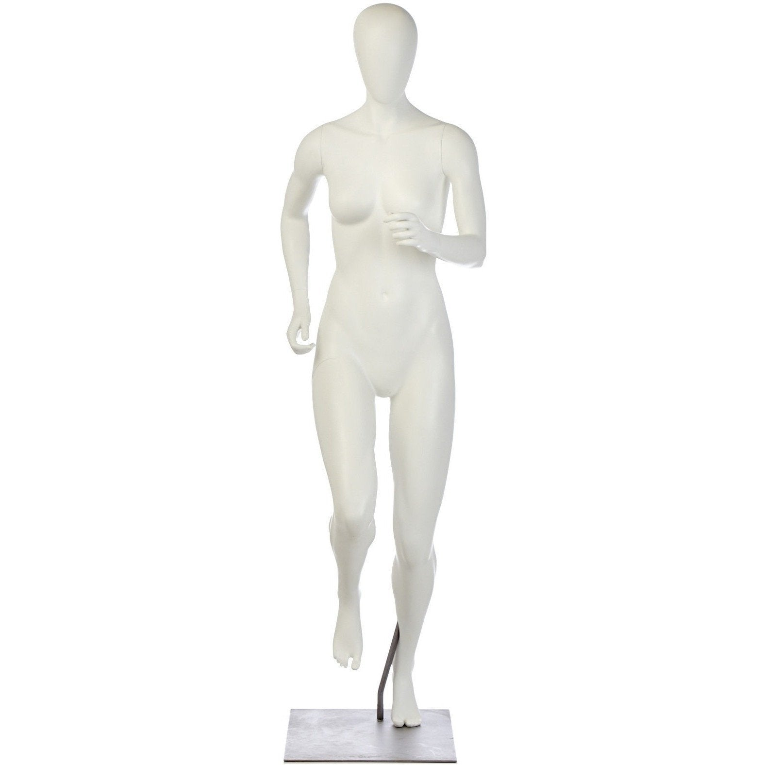 Athletic Female Mid-Stride Runner Mannequin by Fusion Specialties Front