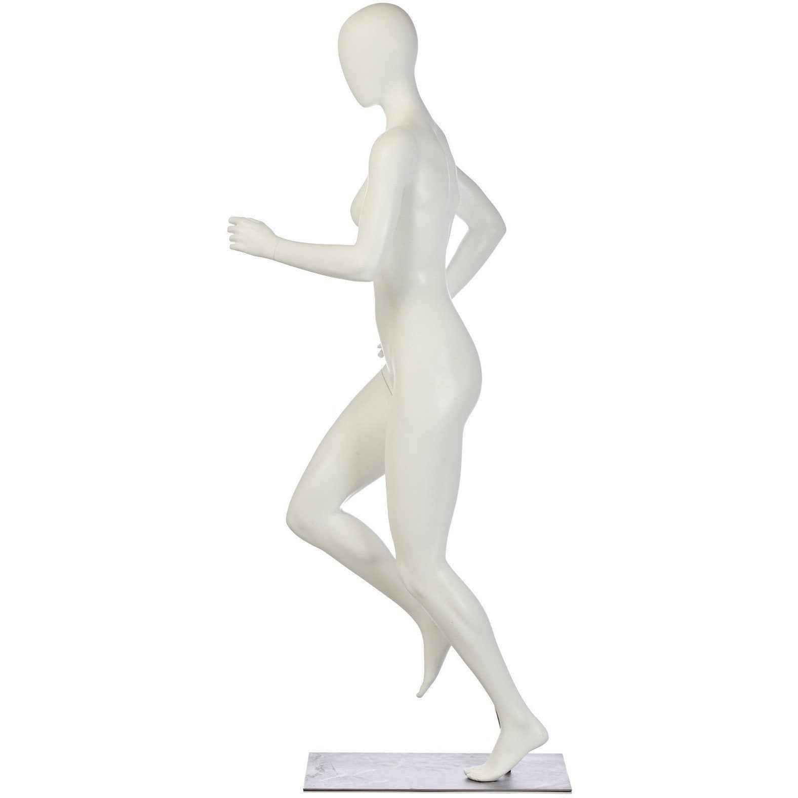 Athletic Female Mid-Stride Runner Mannequin by Fusion Specialties Side
