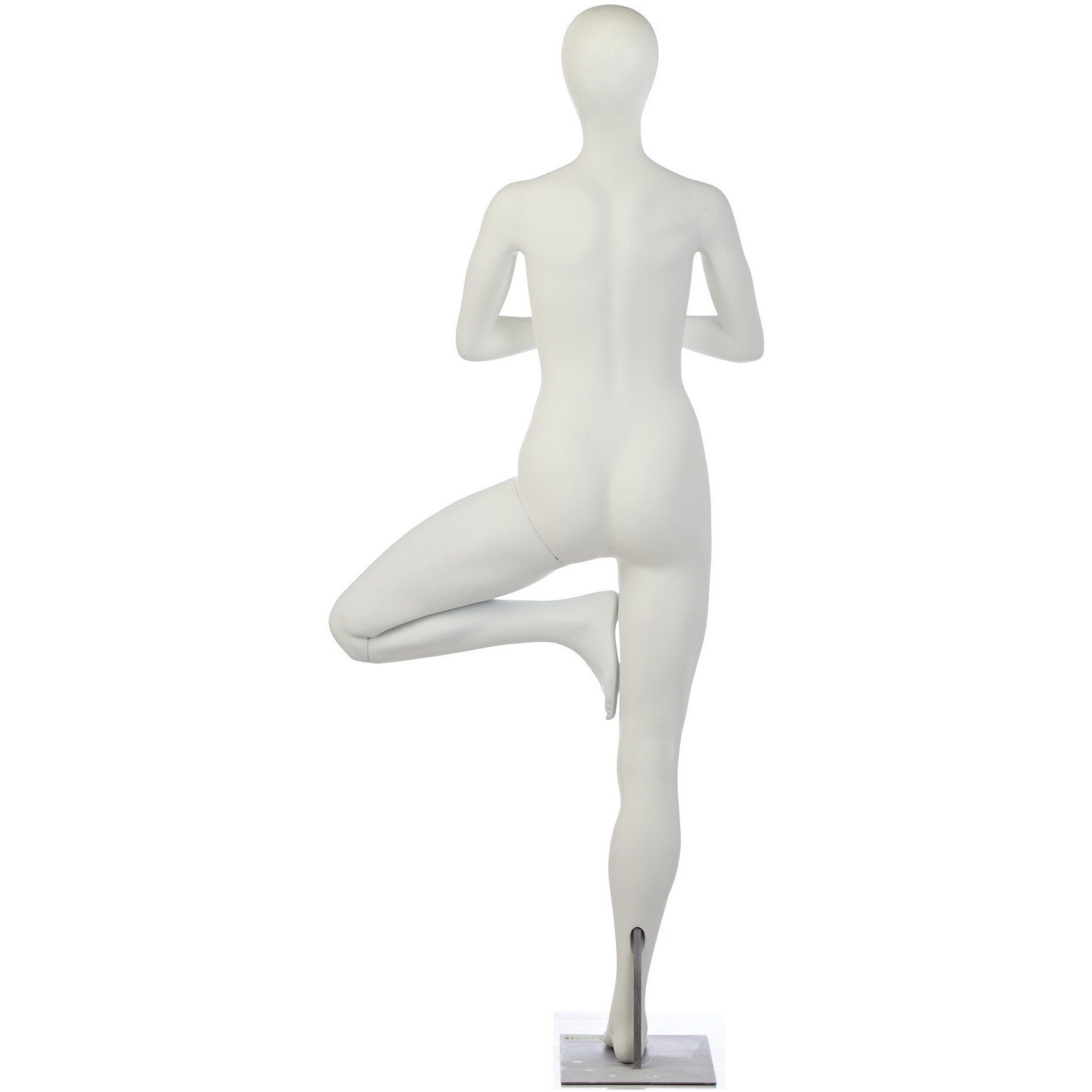 Female Yoga Mannequin in One-Legged Prayer Pose by Fusion Specialties Back