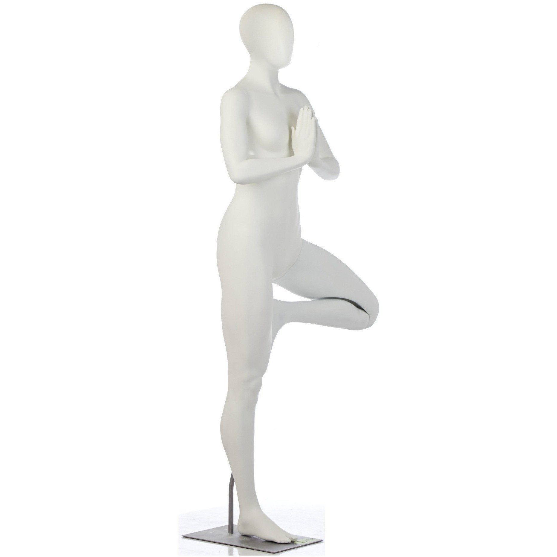 Female Yoga Mannequin in One-Legged Prayer Pose by Fusion Specialties Side