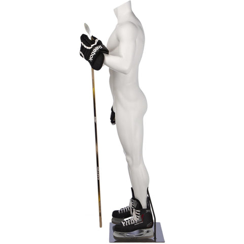 Athletic Male Hockey Full Form Mannequin by Fusion Specialties Side