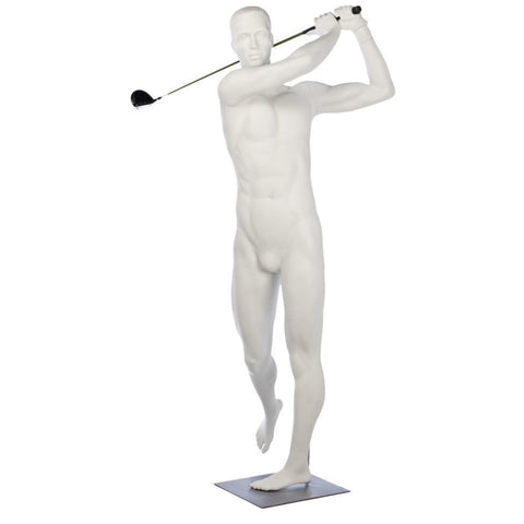 Athletic Male Full Mannequin w/Golf Swing Arms by Fusion Specialties Front
