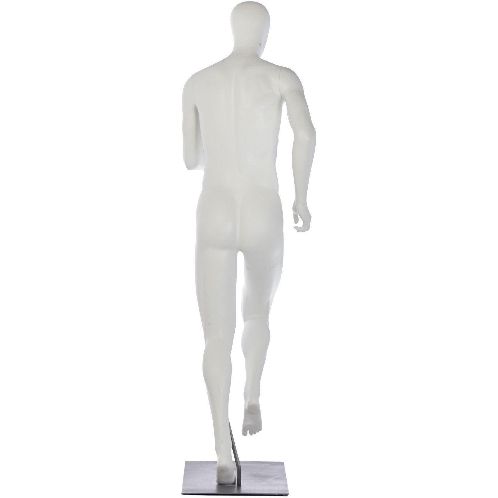 Athletic Male Mid-Stride Runner Mannequin by Fusion Specialties Back