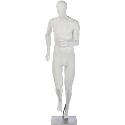 Athletic Male Mid-Stride Runner Mannequin by Fusion Specialties Front