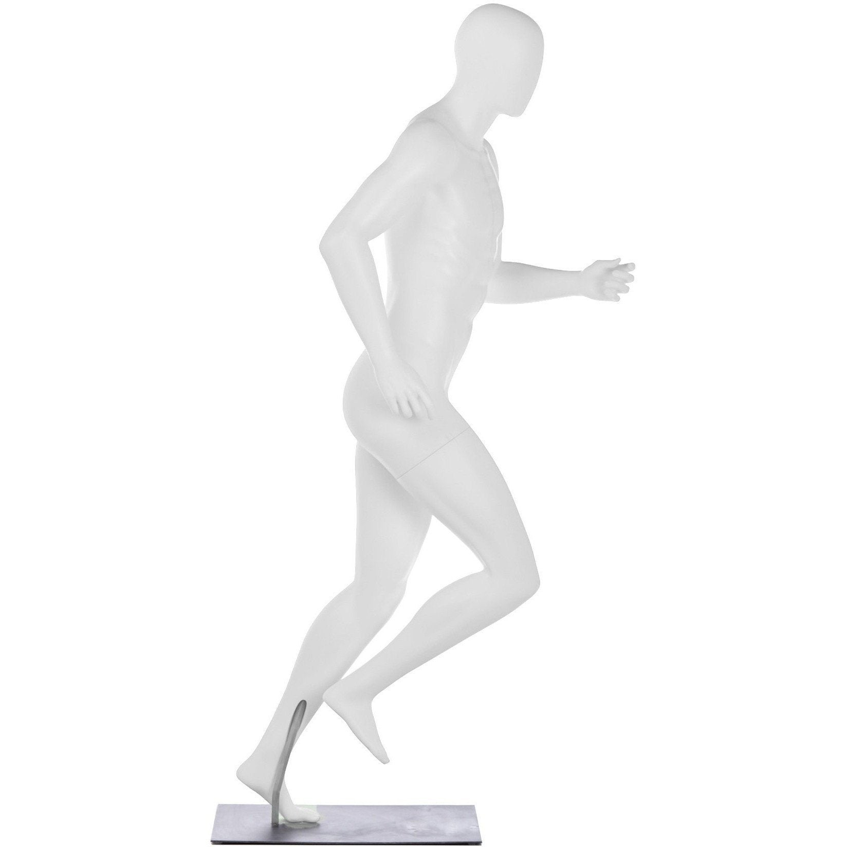 Athletic Male Mid-Stride Runner Mannequin by Fusion Specialties Side