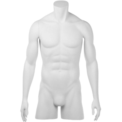 Athletic Male 3/4 Form Mannequin by Fusion Specialties Front