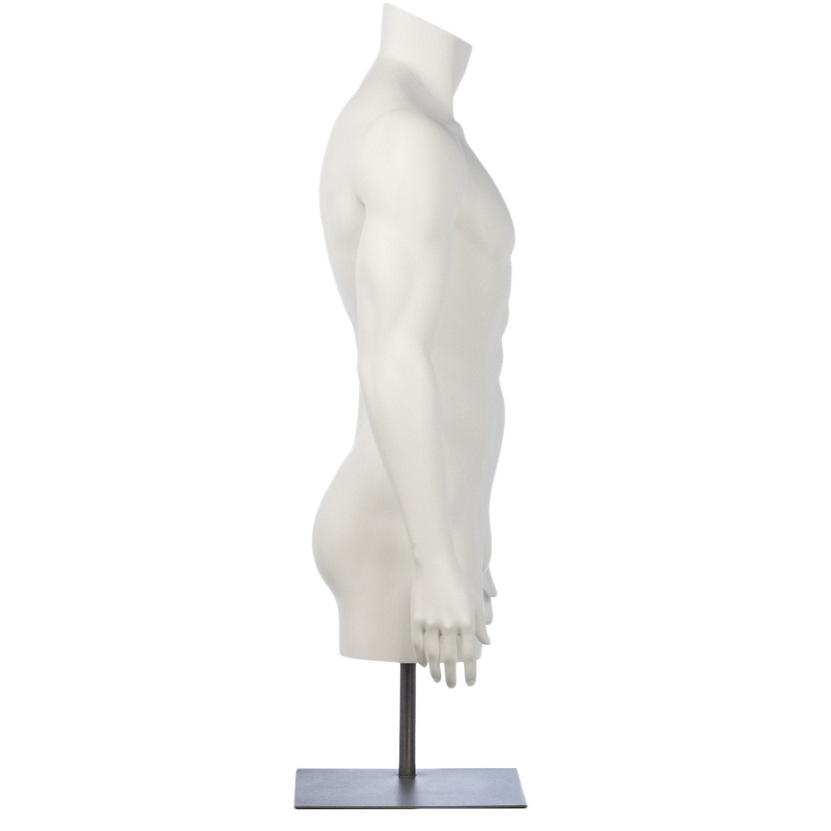 Athletic Male 3/4 Form Mannequin by Fusion Specialties Side