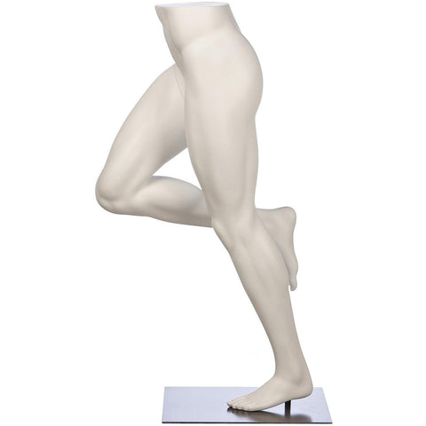 Male Mid-Stride Runner Pant Form Mannequin by Fusion Specialties Side