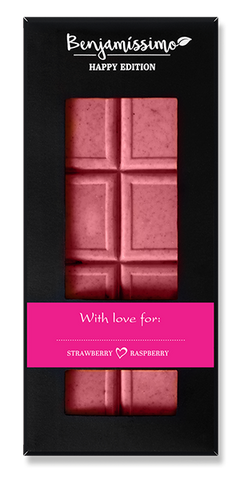 Vegan Cacao Bar with Strawberry & Raspberry