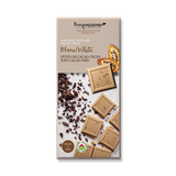 Organic Vegan white chocolate with Raw cacao nibs. Free from soy, gluten, eggs and dairy