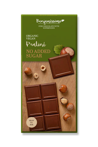 Benjamissimo Vegan Chocolate Praline Hazelnut, Keto & Paleo friendly, No Sugar Added  10 Pieces Pack