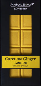 Vegan Cacao Bar with Curcuma, Ginger and Lemon - 10 piece pack