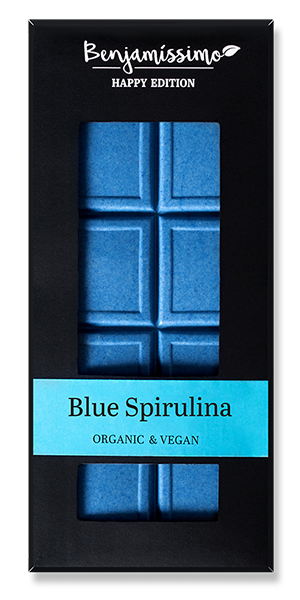 Vegan Cacao Bar with Blue Spirulina - 10 piece pack