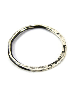 handmade oxidized silver Vegan Polygon ring