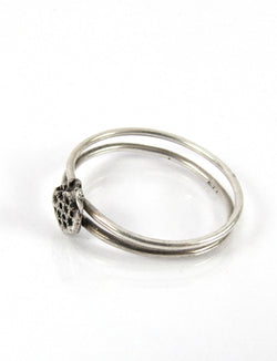 handmade sterling silver or 14k Small Asteroid ring