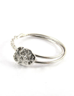 handmade sterling silver Comet Tails ring