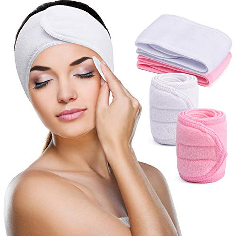 Wide Terry Cloth Headband for Skincare Routine
