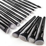 Premium Synthetic Kabuki Brush Set (15 Piece)