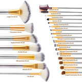 Champagne Premium Cosmetic Makeup Brush Set (24 Piece)