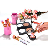 Pink Marble Makeup Brush Set with Brush Holder (10 Piece)