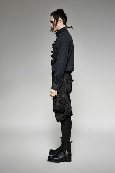 Steampunk Wide Top Trouser Black