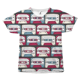compact cassette shirt all over print by egoteest