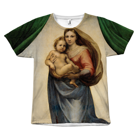 Egoteest Sistine Madonna Painting T-shirt