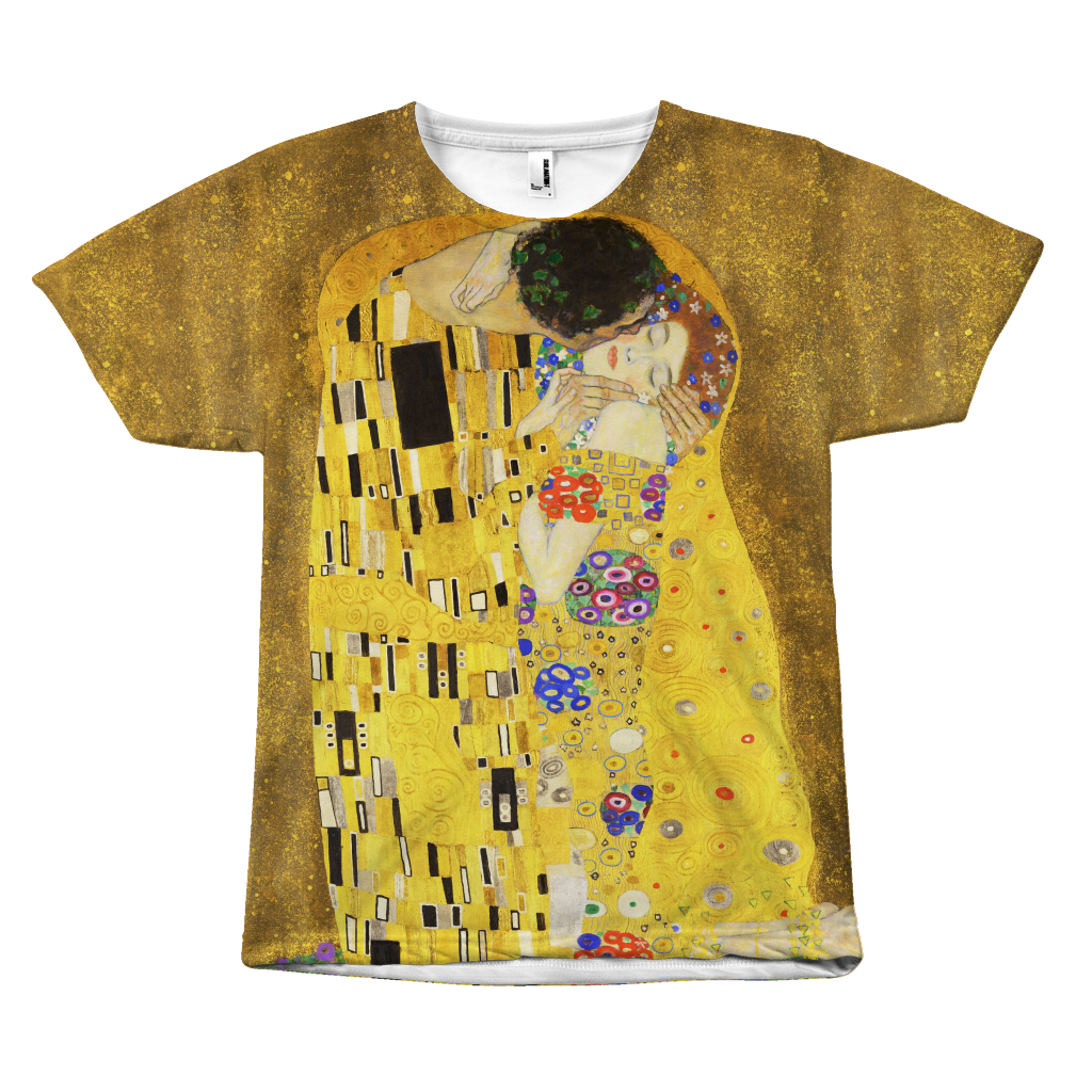 Egoteest The Kiss by Gustav Klimt Painting T-shirt