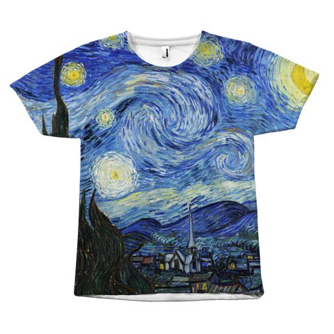 Egoteest The Starry Night by Vincent Van Gogh Painting T-shirt