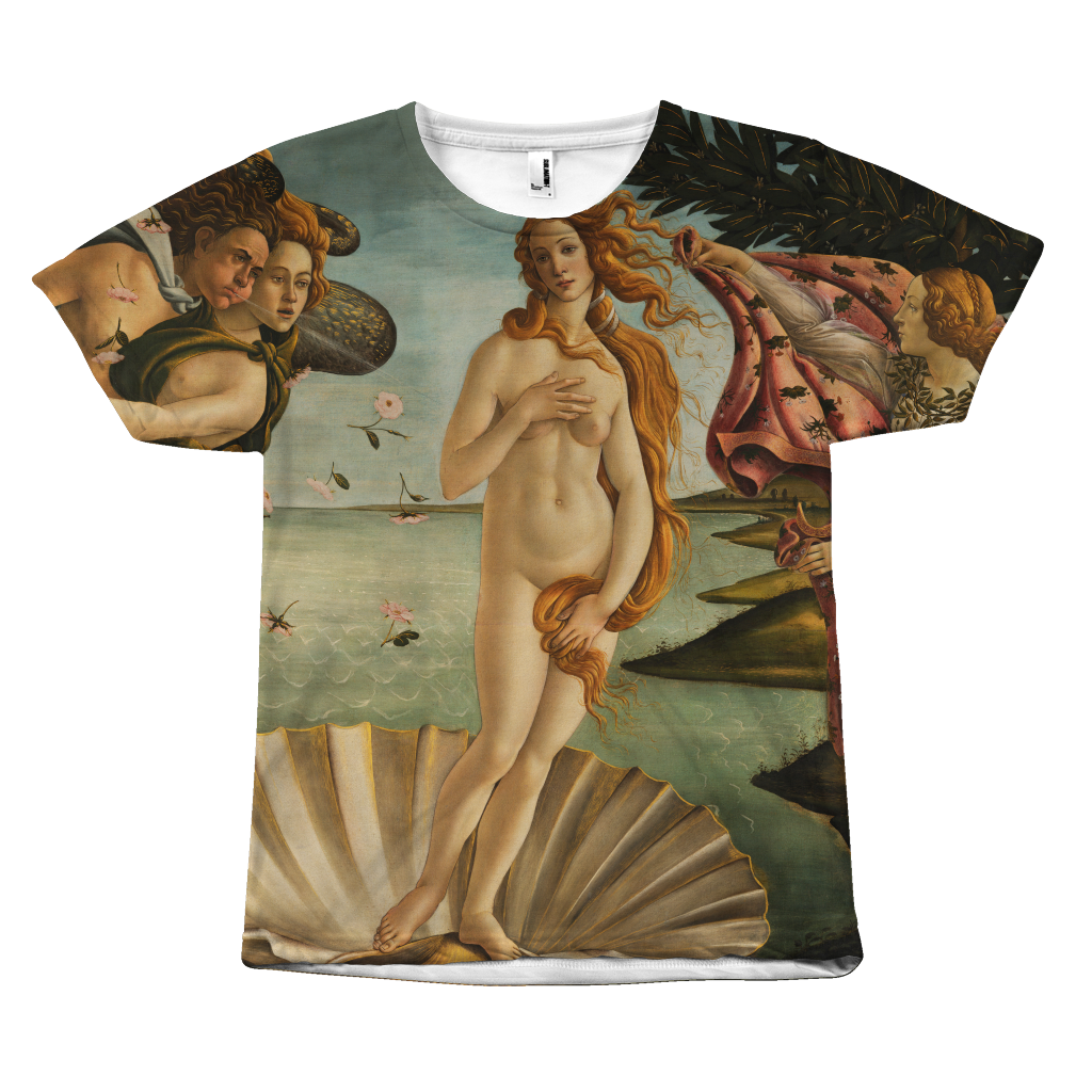 Egoteest The Birth of Venus by Sandro Botticelli Painting T-shirt