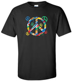 Peace Sign, Paint Smudges T-shirt