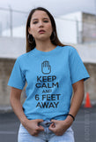 Keep Calm and Six Feet Away. Social Distancing T-shirt