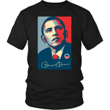 Barack Obama Signature Abstract Portrait T-shirt