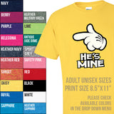 He's Mine. Cartoon Hand. Pointed Finger T-shirt