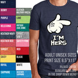 I'm Hers. Cartoon Hand. Pointed Finger T-shirt
