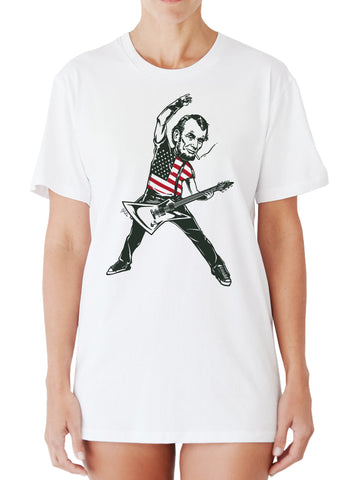 dca6f81dd801 ... Abraham Lincoln Rock Star T-shirt - Rock Like it's 1776 shirt by  Egoteest ...