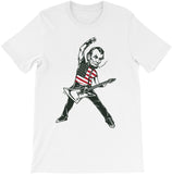 Abraham Lincoln Rock Star T-shirt. Rock Like it's 1776 T-shirt by Egoteest