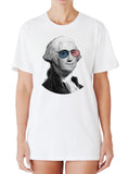 George Washington Wearing USA Flag Sunglasses T-shirt by Egoteest
