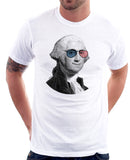 George Washington's Smiling Portrait, 4th of July T-shirt by Egoteest