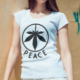 Egoteest: Cannabis Leaf Peace Symbol Women