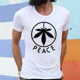 Egoteest: Cannabis Leaf Peace Symbol Men