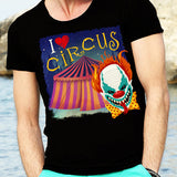 Egoteest: I Love Circus, Creepy Killer Clown Tshirt for Men
