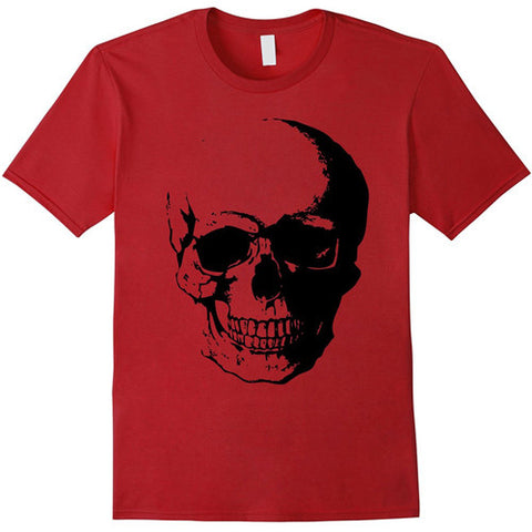 Egoteest: Large Skull Print T-shirt, Fashion Tee, Men, Women, Kids