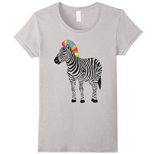 Egoteest: Rainbow Mane Zebra, Large print T-shirt, Men, Women, Kids