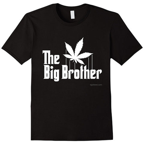 Egoteest: The Big Brother Cannabis Leaf. The Godfather Parody T shirt