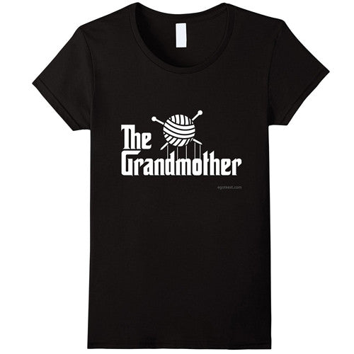 Egoteest: The Grandmother. The Godfather parody Knitting T shirt. Gift for Granny
