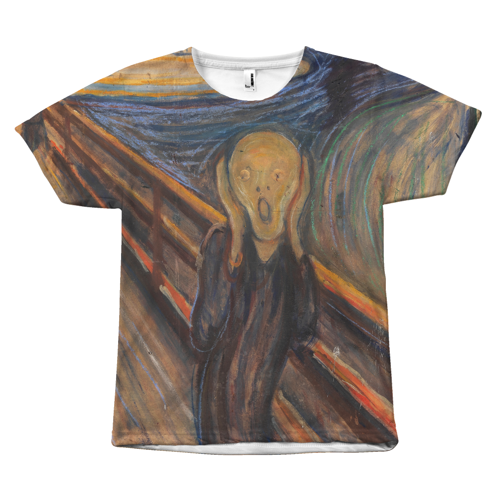 Egoteest The Scream by Edvard Munch Painting T-shirt