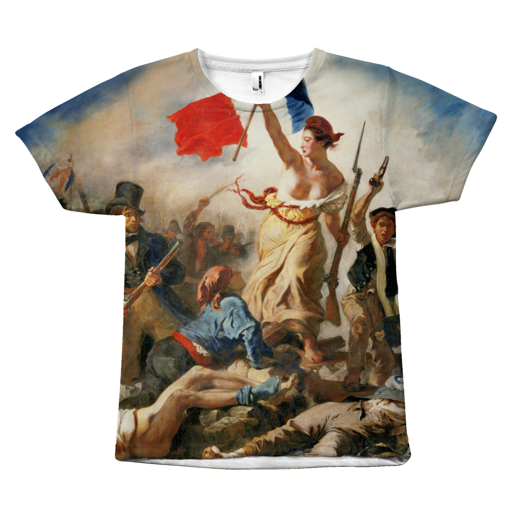 Egoteest Liberty Leading the People Painting T-shirt